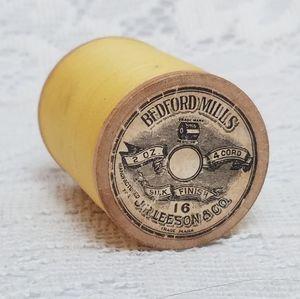 Rare Antique Silk thread Bedford Mills Wood Spool